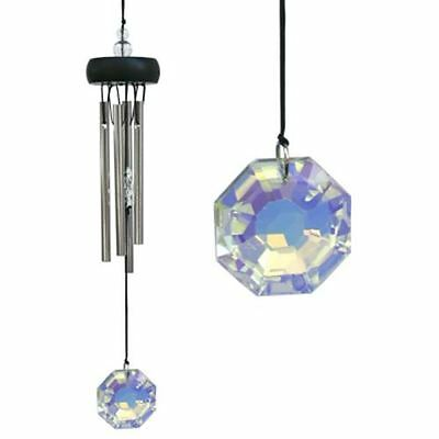 Woodstock Wind Chime SMALL Crystal Precious Stone Chimes Garden Energy Feng Shui