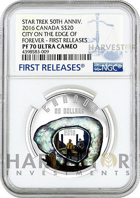 2016 Silver Star Trek - City On The Edge Of Forever - Ngc Pf70 First Releases