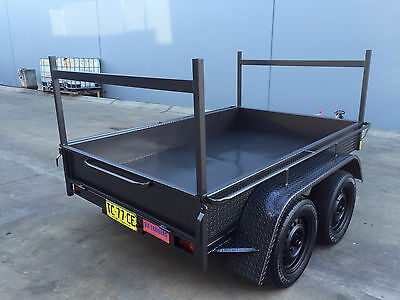 Tandem Box Trailer dual axle WITH LADDER RACKS 8X5 H-DUTY 2T ATM 10x5 10x6 avail