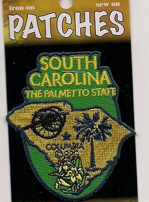 Souvenir Patch - State Of South Carolina - The Palmetto State - Columbia