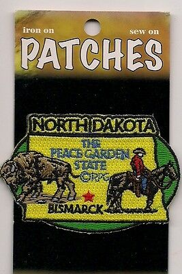 Souvenir Patch -State Of North Dakota - The Peace Garden State - Bismarck