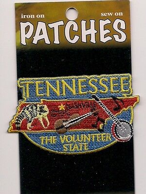 Souvenir Patch - State Of Tennessee - The Volunteer State - Nashville