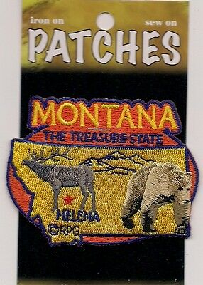 Souvenir Patch - State Of Montana - The Treasure State - Helena