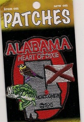 Souvenir Patch - The State Of Alabama - Heart Of Dixie - Montgomery