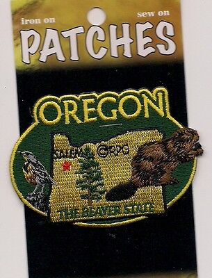 Souvenir Patch - State Of Oregon - The Beaver State - Salem