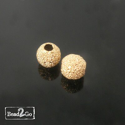 14k Gold Filled Round Beads 5mm Star Dust Sparkle beads-Gold Filled Spacer Beads