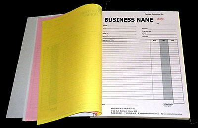 5xA5 Customised Printed Duplicate Carbonless QUOTE/Tax INVOICE Book+Free Design