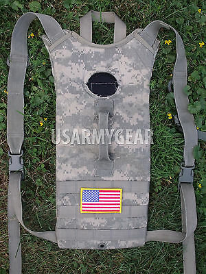 US Army ACU Water Hydration Carrier Bag Back Pack System Poor + New 3 L Bladder
