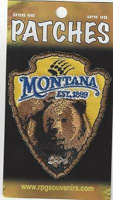 Souvenir Patch - State Of Montana - Bear