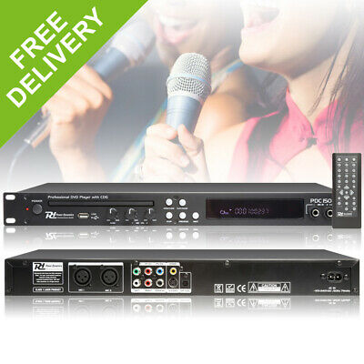 "PD C150 USB CDG DVD 19"" Rack Mount DJ Professional Remote Player Karaoke Machine"