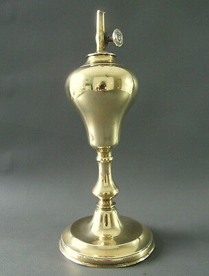Vintage brass whale oil lamp