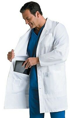Landau Mens Scrubs Notebook Lab Coat 3174 White WWXY New With Tags