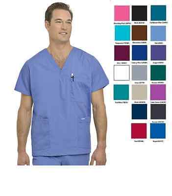 Landau Mens Scrubs 5-Pocket Top 7489 Choose Size/Color New With Tags