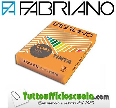 Carta Colorata Fabriano Unicolor Aragosta  Risma Copy Tinta A4 80Gr 500 Fg