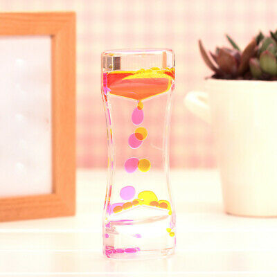 Floating Illusion Timer Liquid Motion Visual Slim liquid Oil Acrylic Hourglass