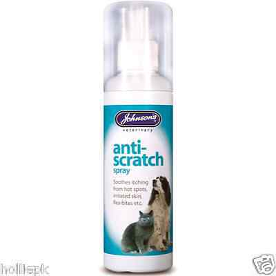 Johnsons Veterinary Anti Scratch Spray Soothes Itching Irritated Skin Dog Cat