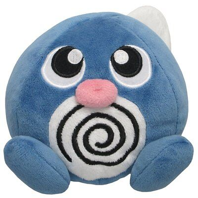 Sanei Pokemon ALL STAR COLLECTION Poliwag Plush Doll Sitting height 12cm PP5