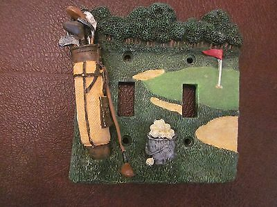 "Golfers Double Switch plate cover 5"" x 5"""