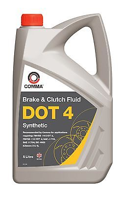 Comma Bf45L 5L Dot 4 Synthetic Brake Fluid - Free Tracked Postage