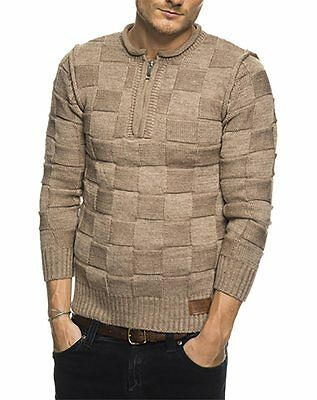 Subliminal Mode – Pull Over Col Arrondi Homme SB-6060 Hiver Petite Maille