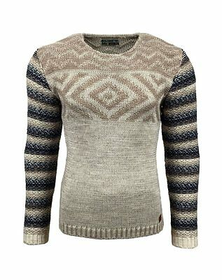Subliminal Mode – Pull Over Rayé Homme Tricot SB-15013 Grosse Maille