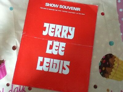 JERRY LEE LEWIS -  Tour programme 1968