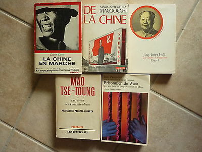LOT 5 volumes CHINE - MAO TSE TOUNG - années 1960/ 1970