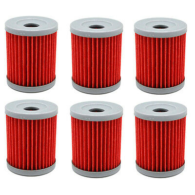6x Oil Filter For Yamaha Majesty YP400 04-14 Grand YP250G 04-07 CP250 Morphous