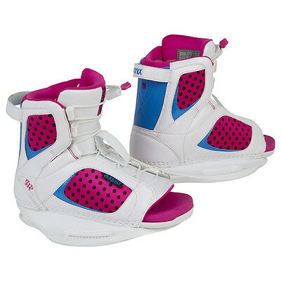 2014 Ronix August Wakeboard Boots Youth 2-6 - White/Pink - Factory 3rd