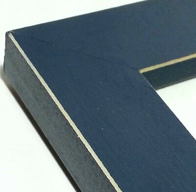 ☆SALE☆ 40 ft - Hardwood Picture Frame Moulding, Blue Stain, MADE IN USA