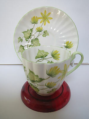 Shelley Fine Bone China - Celandine 14055 - Demitasse Cup And Saucer