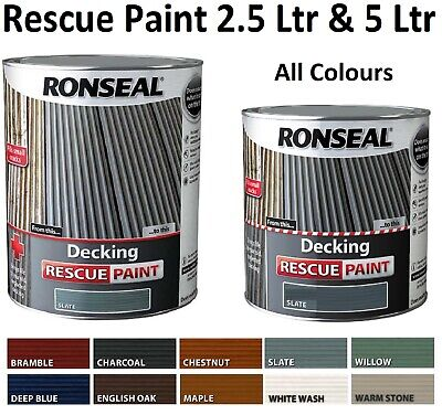 ronseal decking rescue paint 2.5 litre all colours stain 2.5l