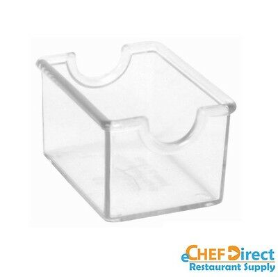 6 PCs  Rectangular Clear Plastic Sugar Pack Holder