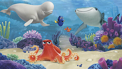 FINDING DORY PREPASTED WALL MURAL Disney Wallpaper 10.5' x 6' Room Decorations