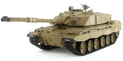 1/16 RC 2.4G Smoke&Sound British Challenger 2 Tank Metal Gearbox Version