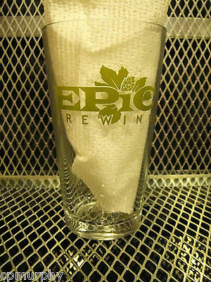 EPIC BREWING Co Utah ~ NEW ~ POUNDER Beer 16oz Pint Glass ~ Big BAD Baptist