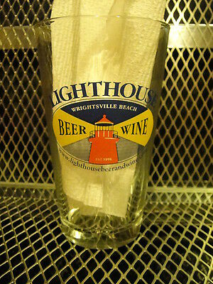 LIGHTHOUSE Beer & Wine Wrightsville Beach NC Beer Pint Glass A