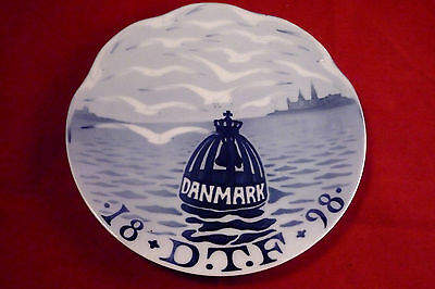 Royal Copenhagen 1898 Commemorative Plate Arnold Krog D.t.f. Tourist Association