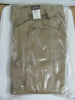 NEW XXXXL Indura FRC Work Industrial Men's Khaki Coveralls Long Sleeve 4XL 7 Oz