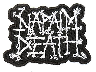 NAPALM DEATH Heavy Thrash Metal Embroidered Iron On Patch Badge