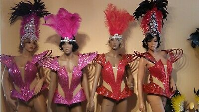 Brazilian SAMBA CORSET Style Carnival Costume Size 8-10 Drag Queen Stage Dance