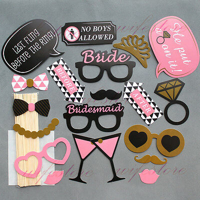 Hen Do Party Photo Props Booth Kit Selfie Hen Night Game Accessories Favours DIY