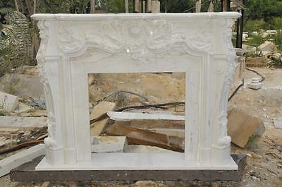 Hand Carved French Design Marble Fireplace Mantel #3975