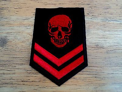 New Red Army Skull Biker Embroidered Cloth Patch Applique Badge Iron Sew On