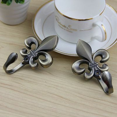 2PCS Decorative Wall Hook Antique Brass Curtain Tie Backs Hardware Hanger
