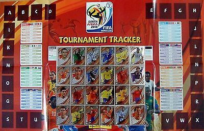 Panini World Cup 2010 Tracker Chart with complete Set of  unused Stickers