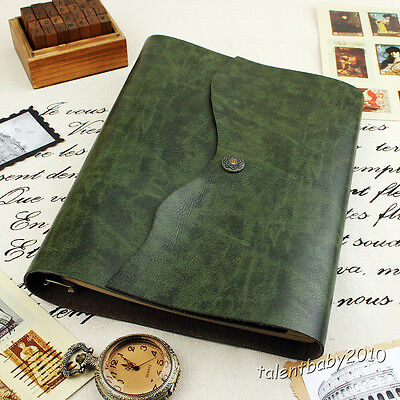 SOFT VINTAGE Scrapbook Album/Sketchbook/Notebook/Photo Diary/Guest/Green White