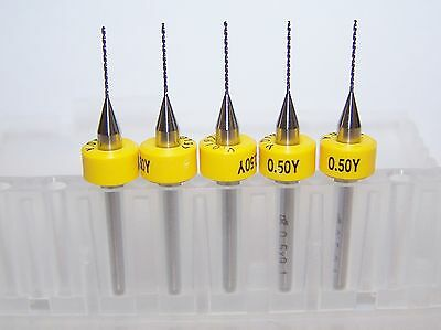 "(5) NEW 0.50mm (.0197"") Printed Circuit Board Drills (PCB)"