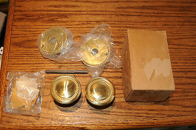 NOS Heavy Solid Brass Door Knob Hardware Almost Two Pounds New Old Stock Handle.