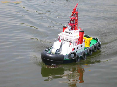 RC Seaport Work Boat With Lights & Spurt Water